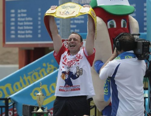 Joey Chestnut Gunning For 77 Wieners!!!